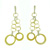EDC1356 18k Yellow Gold Diamond Earrings