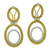 EDC1609 18k Yellow & White Gold Diamond Earrings