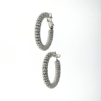 EDC1621 18k White Gold Diamond Earrings