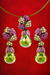EDC2059 18k White Gold Multi-Gem Earrings