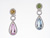 EDC2192 18k White Gold Multi-Gem Earrings