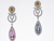 EDC2193 18k White Gold Multi-Gem Earrings