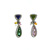 EDC2194 18k White Gold Multi-Gem Earrings