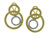 EDC2211 18k Yellow &  White Gold Diamond Earrings