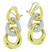 EDC2212 18k Yellow &  White Gold Diamond Earrings