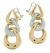 EDC2213 18k Rose & White Gold Diamond Earrings