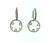 EDC2216 18k White Gold Crystal Diamond Earrings