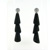 EDC7002 18k White Gold Diamond Onyx Earrings