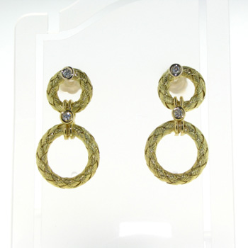 EDP0001 18k Yellow Gold Diamond Earrings