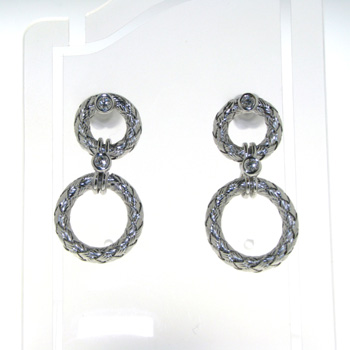 EDP0002 18k White Gold Diamond Earrings