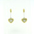 EDP0003 18k Yellow & White Gold Diamond Earrings