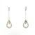 EDP0011 18k White & Rose Gold Diamond Earrings