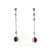 EDP0012 18k White Gold Diamond Ruby Earrings