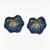 EDP0013 18k White & Yellow Gold Diamond Sapphire Earrings