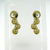 EDP01005 18k Yellow Gold Diamond Earrings