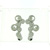 EDP01007 18k White Gold Diamond Earrings