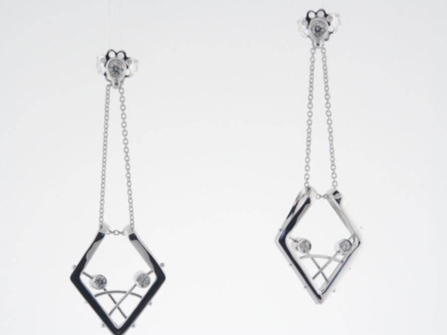 Edp2076 18k White Gold Diamond Earrings