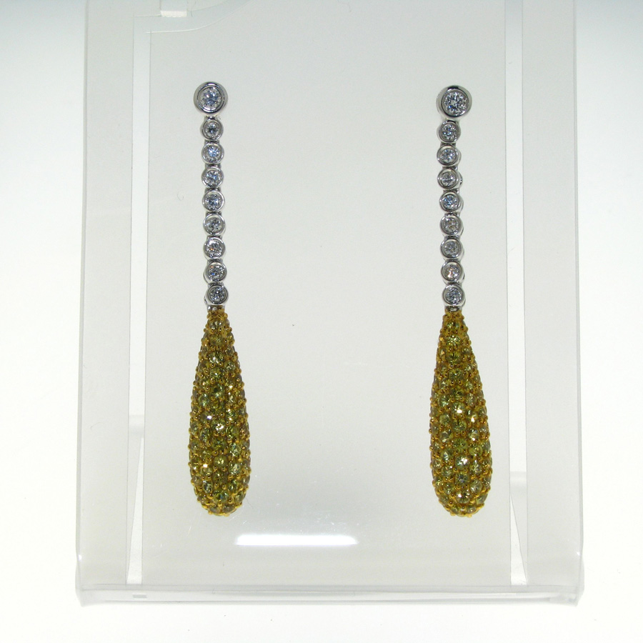 x earrings yellow white mm gold sapphire natural genuine oval products