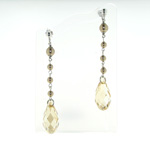 ESP1031 Sterling Silver Crystal Pearl Earrings