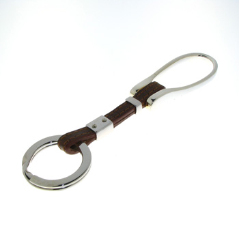 KYC1015 Sterling Silver & Leather Key Chain