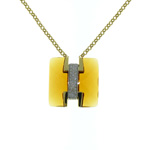 N000002 18k White & Yellow Gold Diamond Citrine Necklace