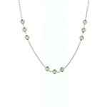 NEC0053 18k White Gold Diamond Necklace