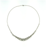 NEC0057 18k White Gold Diamond Necklace