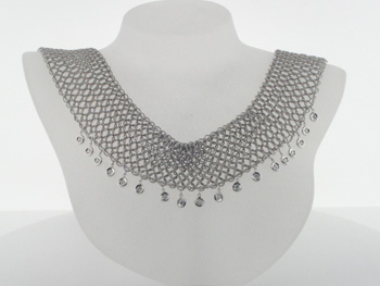 NEC1033 18k White Gold Diamond Necklace