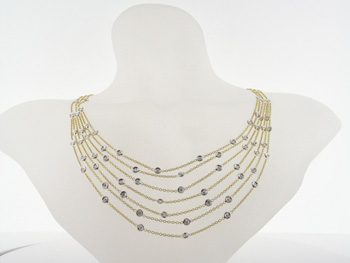NEC1039 18k Yellow Gold Diamond Necklace