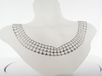 NEC1042 18k White Gold Diamond Necklace