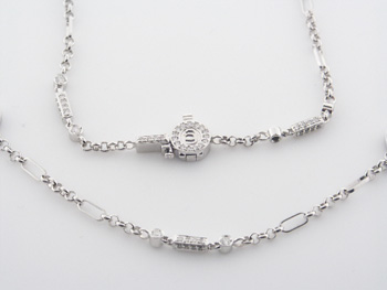 NEC1054 18k White Gold Diamond Necklace