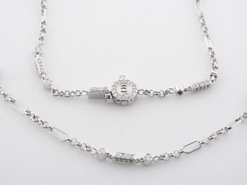 NEC1055 18k White Gold Diamond Necklace