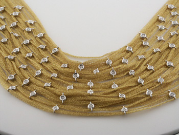 NEC1057 18k Yellow & White Gold Diamond Necklace