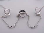 NEC1059 18k White Gold Diamond Necklace