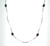 NEC1065 18k White Gold Diamond Sapphire Necklace