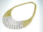 NEC1081 18k White & Yellow Gold Diamond Necklace