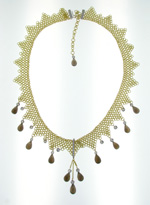 NEC1093 18k Yellow Gold Diamond Topaz Necklace