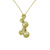 P000001 18k Yellow Gold Diamond Pendant