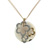 P000008 18k Rose & White Gold Diamond Quartz Pendant