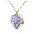 P000011 18k White Gold Diamond Amethyst Pendant