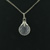 P000012 18k White Gold Diamond Quartz Pendant