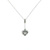 PLD0006 18k White Gold Diamond Pendant