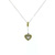 PLD0007 18k White & Yellow Gold Diamond Pendant