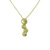 PLD01016 18k Yellow Gold Diamond Pendant