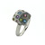 R000020 18k White Gold Multi-Gem Ring