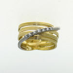 RLD0001 18k Yellow & White Gold Diamond Ring