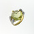 RLD0008 18k White Gold Diamond Lemon Quartz Ring