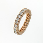 RLD0014 18k Rose Gold Diamond Ring