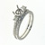 RLD0021 18k White Gold Diamond Wedding Set
