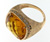 RLD0048 18k Rose Gold Diamond Citrine Ring
